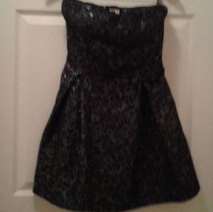 Hollister Black w/ Silver Strapless Mini Dress